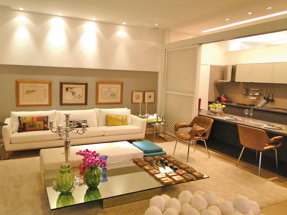 Inspira es pra voc que deseja integrar os ambientes for Sala de estar gourmet