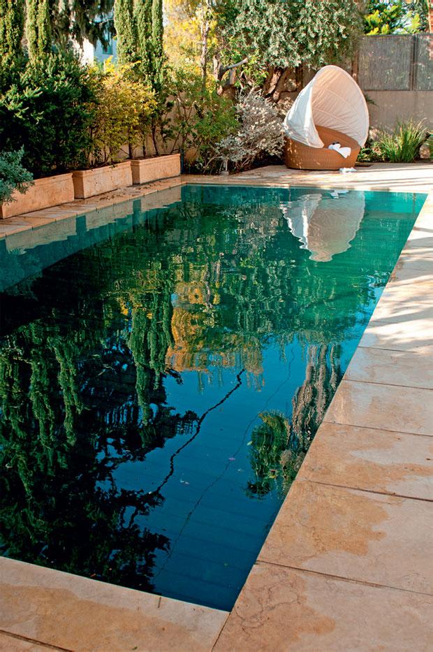 tecnologia israelense esconde a piscina no jardim grupo