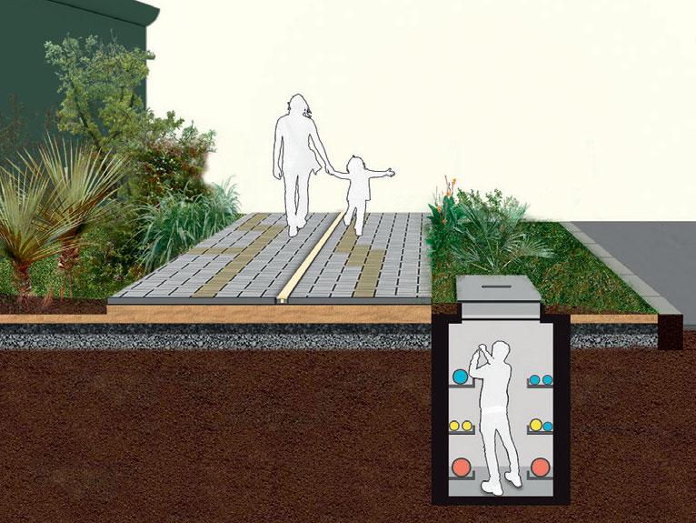 """TUBULAÇÃO CAMUFLADA. Não realizada na mostra, a calçada técnica elimina a poluição visual ao prever galerias no subsolo (a cada 6 ou 12 m), por onde passa o cabeamento elétrico, hidráulico, telefônico, de TV e fbra ótica. Assim, a manutenção dispensa o quebra-quebra do piso, e as laterais se liberam para as plantas. """"Hoje, essas redes correm até por baixo das árvores. O preferível é criar uma caixa funda, com cerca 2 m de altura e feita de concreto ou alvenaria, na qual um profssional possa entrar e acessar os tubos e fos dispostos em prateleiras"""", detalha Benedito. TUBULAÇÃO CAMUFLADA. Não realizada na mostra, a calçada técnica elimina a poluição visual ao prever galerias no subsolo (a cada 6 ou 12 m), por onde passa o cabeamento elétrico, hidráulico, telefônico, de TV e fbra ótica. Assim, a manutenção dispensa o quebra-quebra do piso, e as laterais se liberam para as plantas. """"Hoje, essas redes correm até por baixo das árvores. O preferível é criar uma caixa funda, com cerca 2 m de altura e feita de concreto ou alvenaria, na qual um profssional possa entrar e acessar os tubos e fos dispostos em prateleiras"""", detalha Benedito TUBULAÇÃO CAMUFLADA. Não realizada na mostra, a calçada técnica elimina a poluição visual ao prever galerias no subsolo (a cada 6 ou 12 m), por onde passa o cabeamento elétrico, hidráulico, telefônico, de TV e fbra ótica. Assim, a manutenção dispensa o quebra-quebra do piso, e as laterais se liberam para as plantas. """"Hoje, essas redes correm até por baixo das árvores. O preferível é criar uma caixa funda, com cerca 2 m de altura e feita de concreto ou alvenaria, na qual um profssional possa entrar e acessar os tubos e fos dispostos em prateleiras"""", detalha Benedito. TUBULAÇÃO CAMUFLADA. Não realizada na mostra, a calçada técnica elimina a poluição visual ao prever galerias no subsolo (a cada 6 ou 12 m), por onde passa o cabeamento elétrico, hidráulico, telefônico, de TV e fbra ótica. Assim, a manutenção dispensa o quebra-quebra do piso, e as l"""