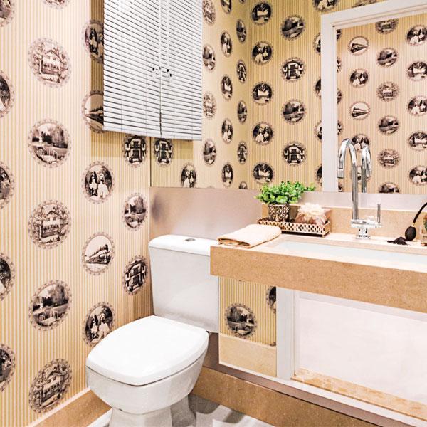 Tecidos adesivos para parede  Blog Corporativo do Grupo JTavares  Blog Corp -> Decoracao De Banheiro Com Tecido Na Parede