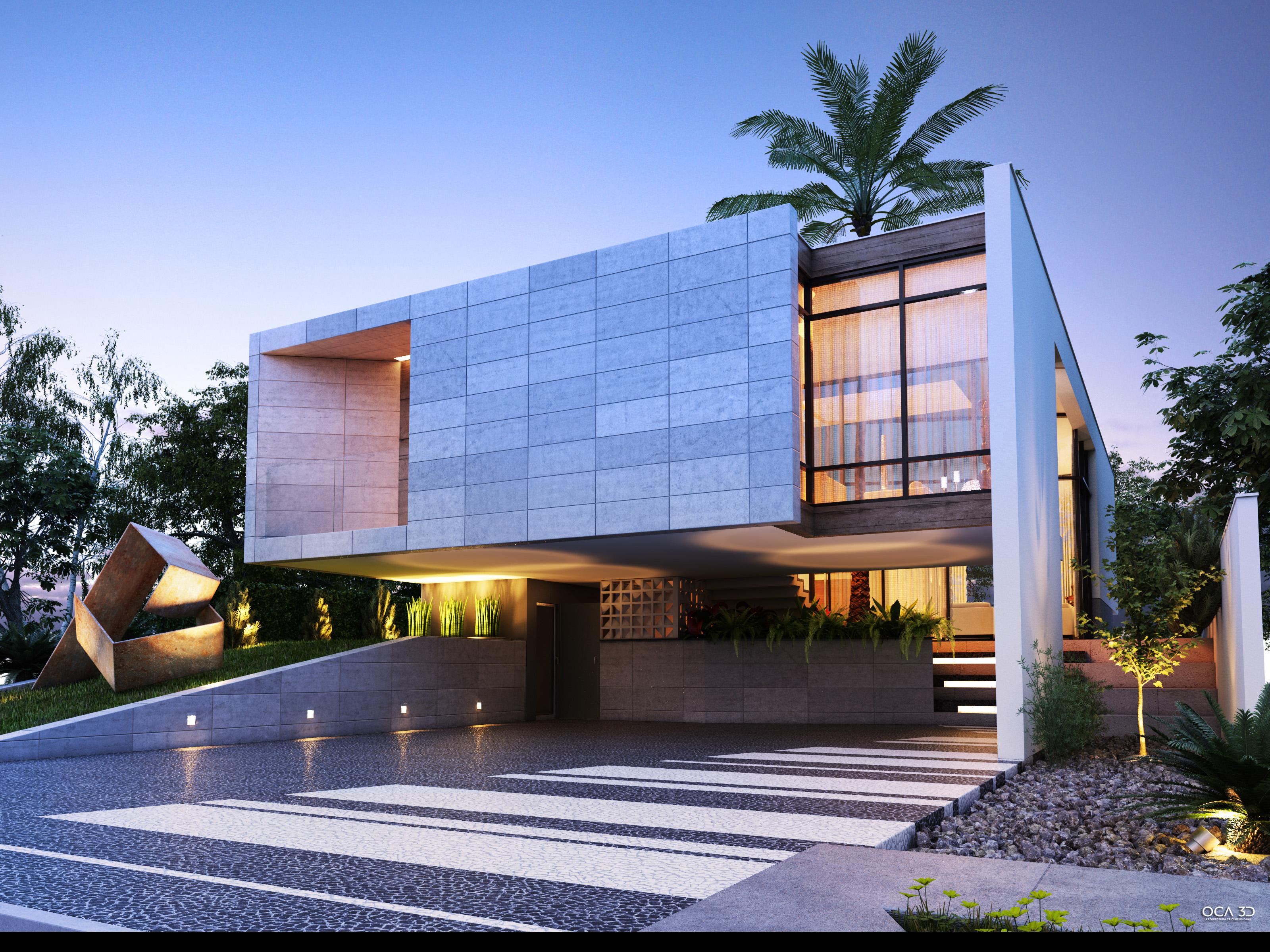 Casas modernas com fachadas de vidro grupo jtavares for Casa moderna wallpaper